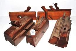 Ten vintage mold planes