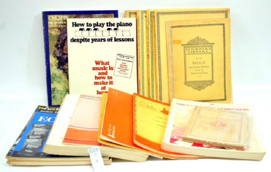 Estate Music Books Hanon, Bach and more