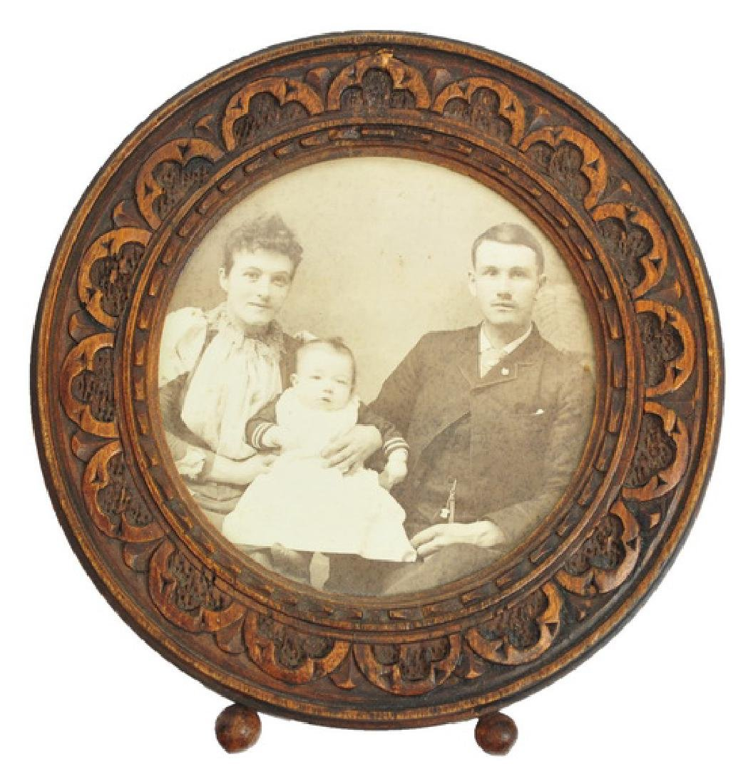 Early Chipwood Frame with Family Photo