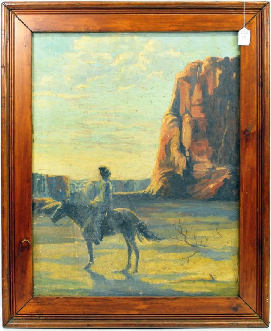 Oil on canvas Southwest Canyon scene