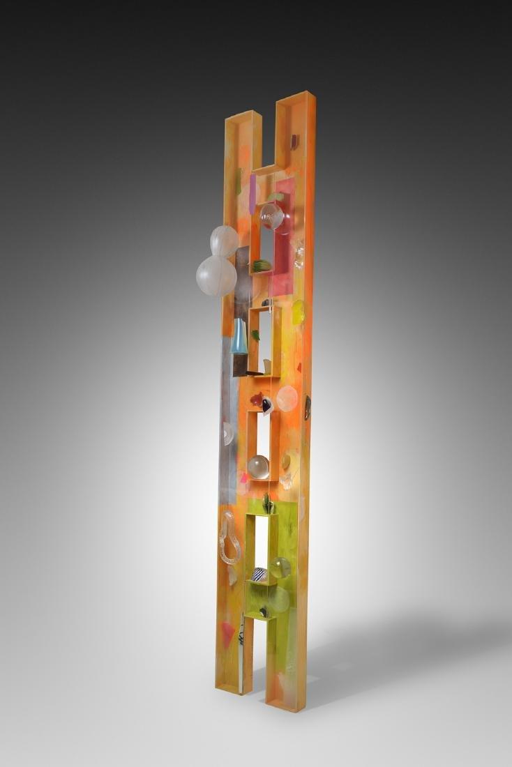 Therman Statom Aranica Ladder Art Glass Habatat