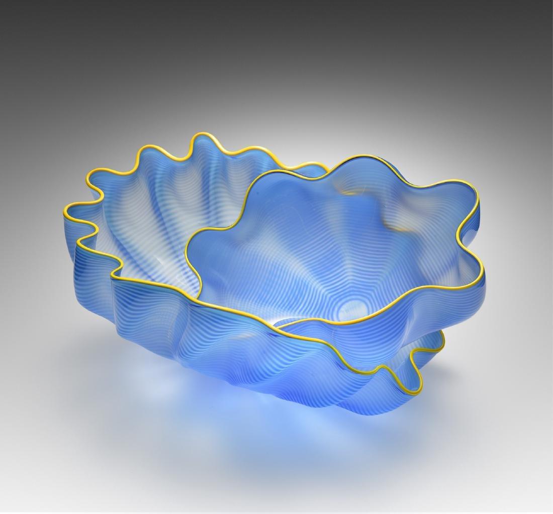 Dale Chihuly Larkspur Seaform Set Art Glass Habatat