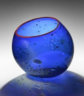 Dale Chihuly Blue Basket Art Glass Habatat