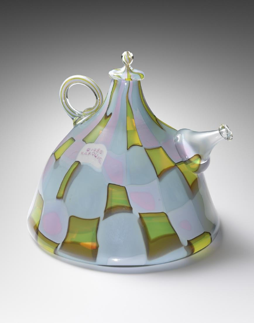 Richard Marquis Teapot 1980 Art Glass Habatat