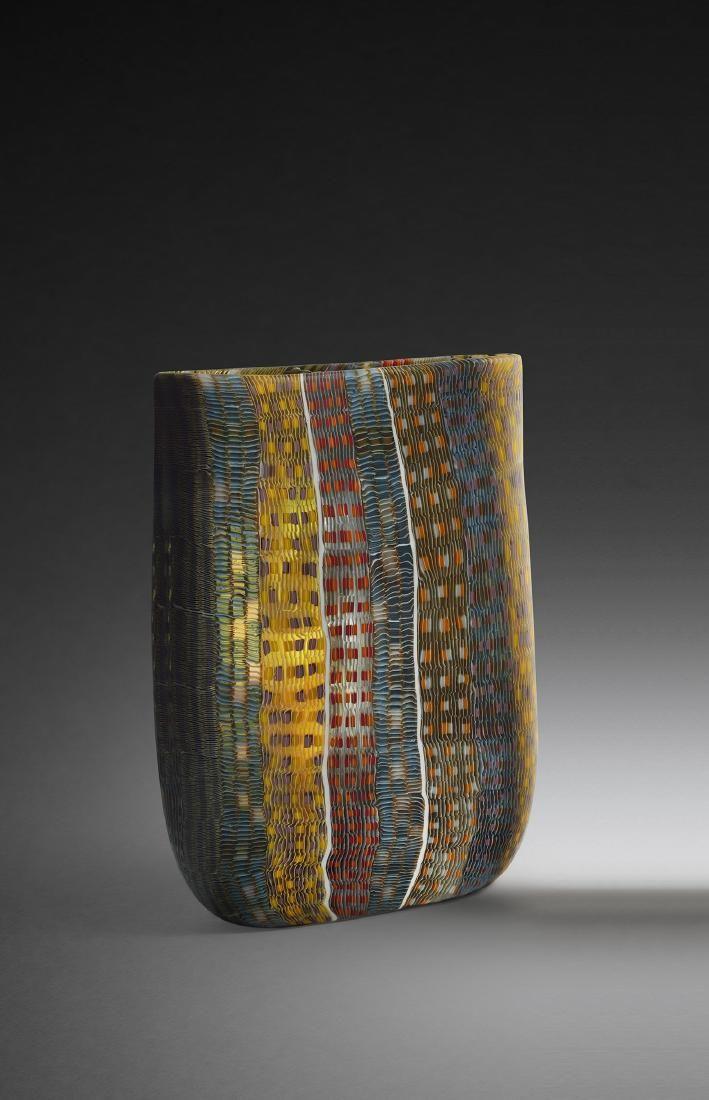 Giles Bettison Vista #103 Art Glass Habatat Vessel