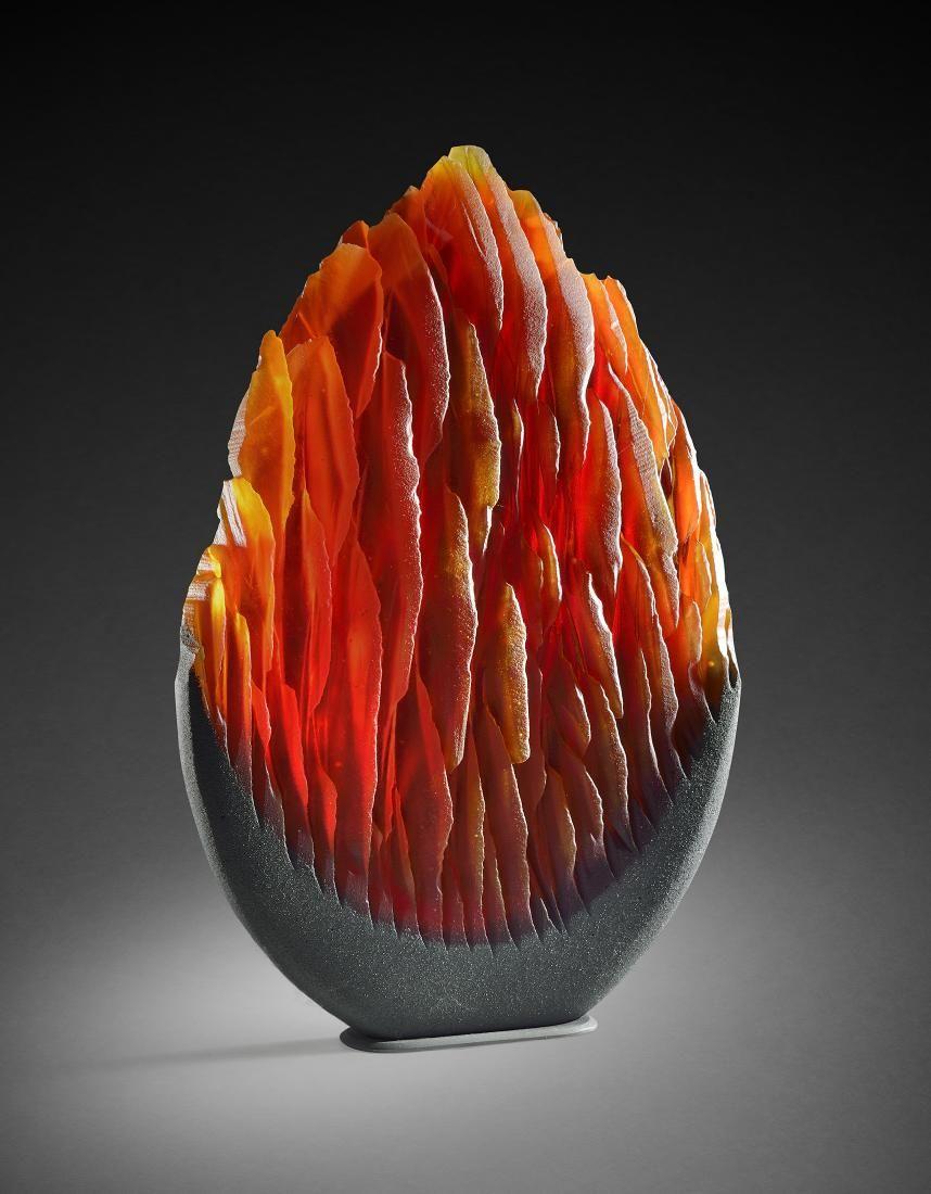 Alex G Bernstein Red M12 Art Glass Habatat