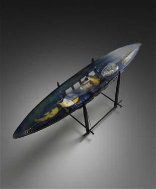 Bertil Vallien Odysee 2005 Art Glass Habatat Boat