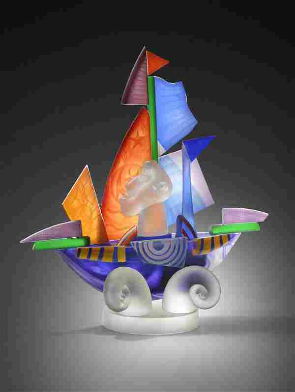 Stanislaw Borowski Jr. 2004 Art Glass Habatat