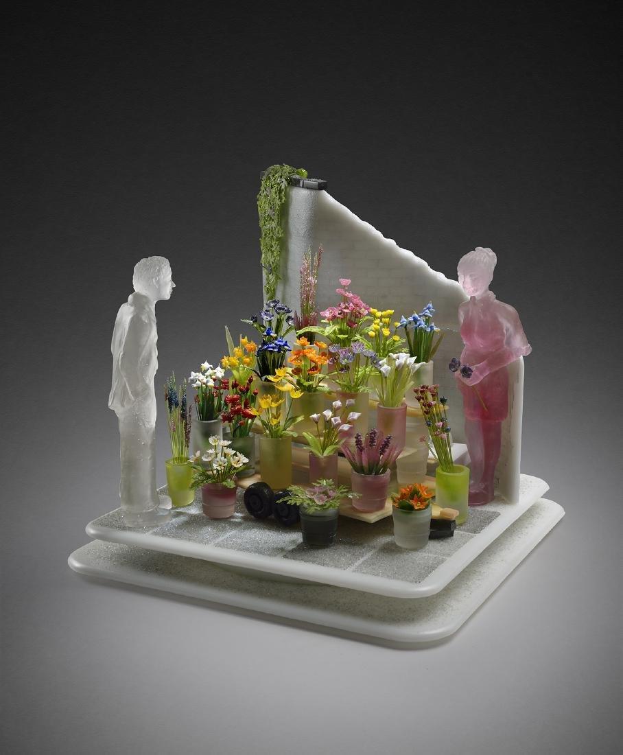 Emily Brock Blooms 2006 Habatat Art Glass