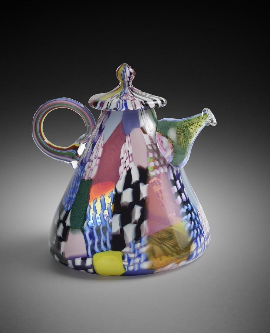 Richard Marquis Teapot 1979 Habatat Art Glass