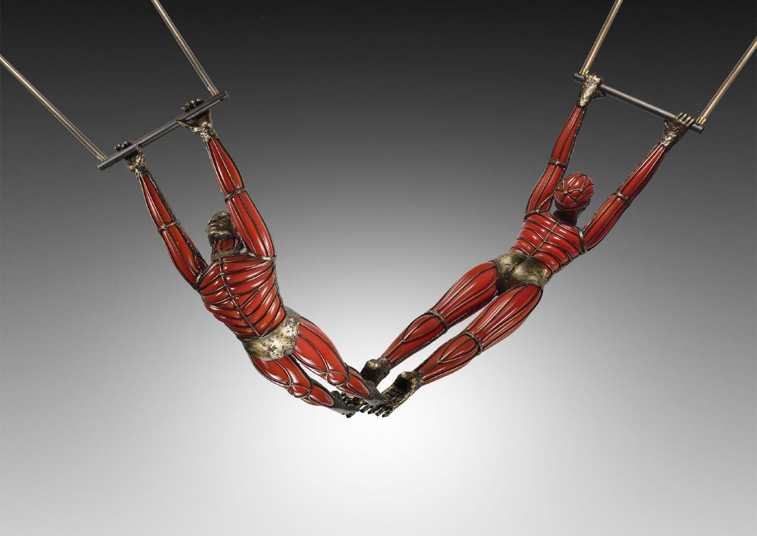 David Bennett Two Acrobats Habatat Art Glass