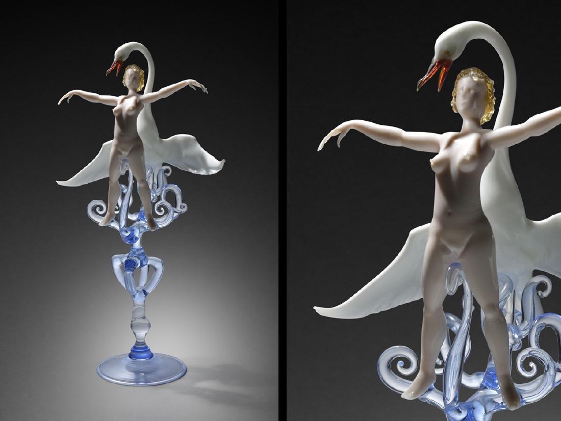 Lucio Bubacco Lida and the Swan 2003 Art Glass Habatat