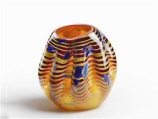 Dale Chihuly Cinnamon Macchia Edition Art Glass Habatat