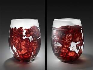 Stanislaw Borowski Sr. G. in Ruby 1990 Art Glass