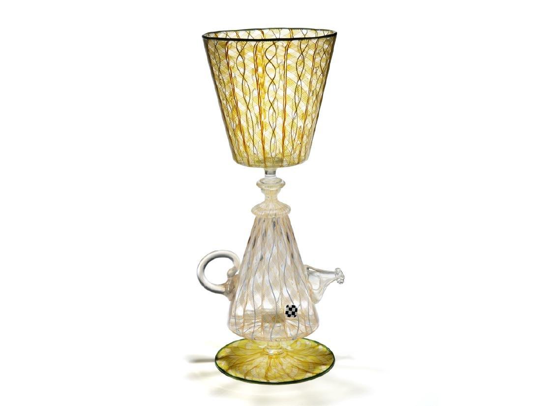 Richard Marquis Teapot Goblet 41 1998 Art Glass Habatat