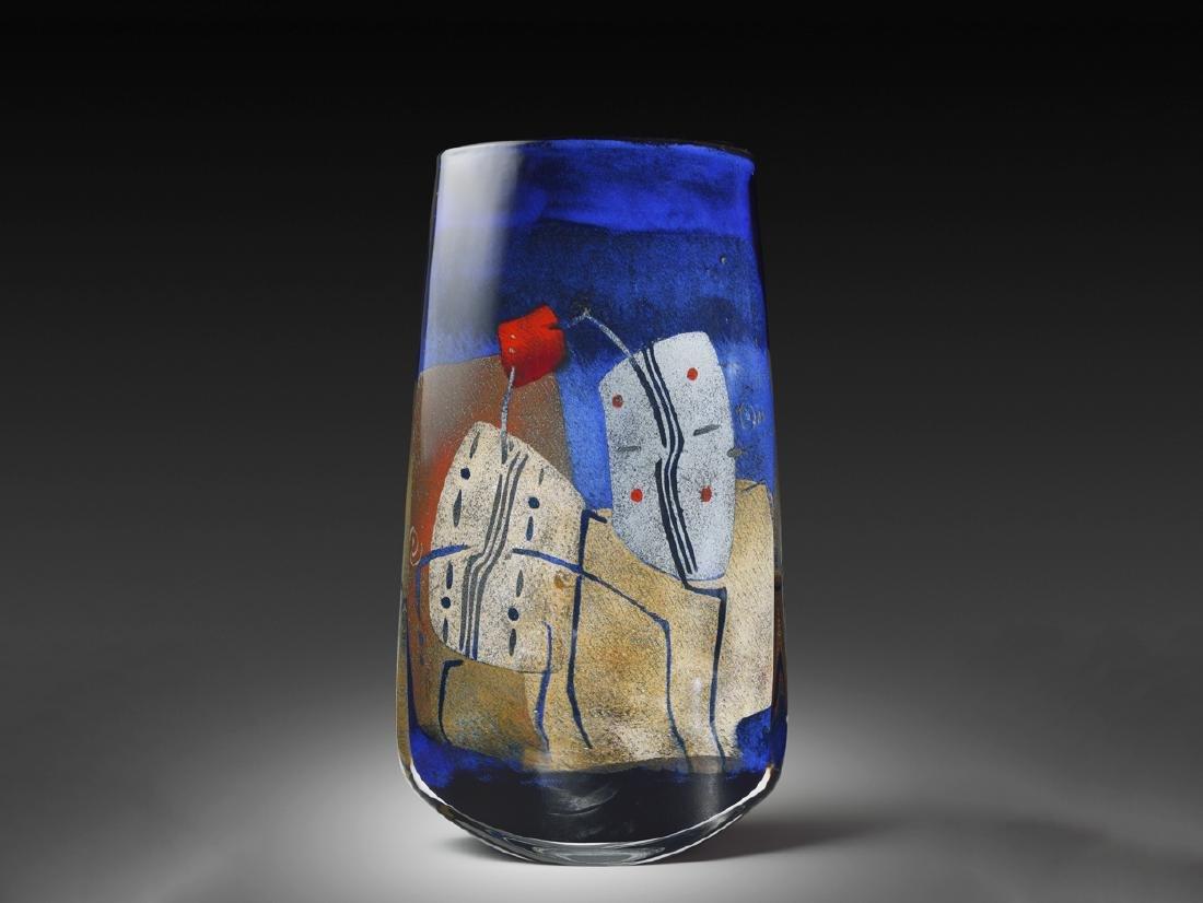 Alain & Marisa Begou 20A31 Vessel 2000 Art Glass