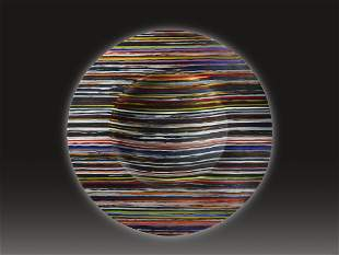 Klaus Moje New Horizon #4 1983 Art Glass Habatat
