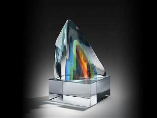 Harvey Littleton Segmented Form 1984 Art Glass Habatat