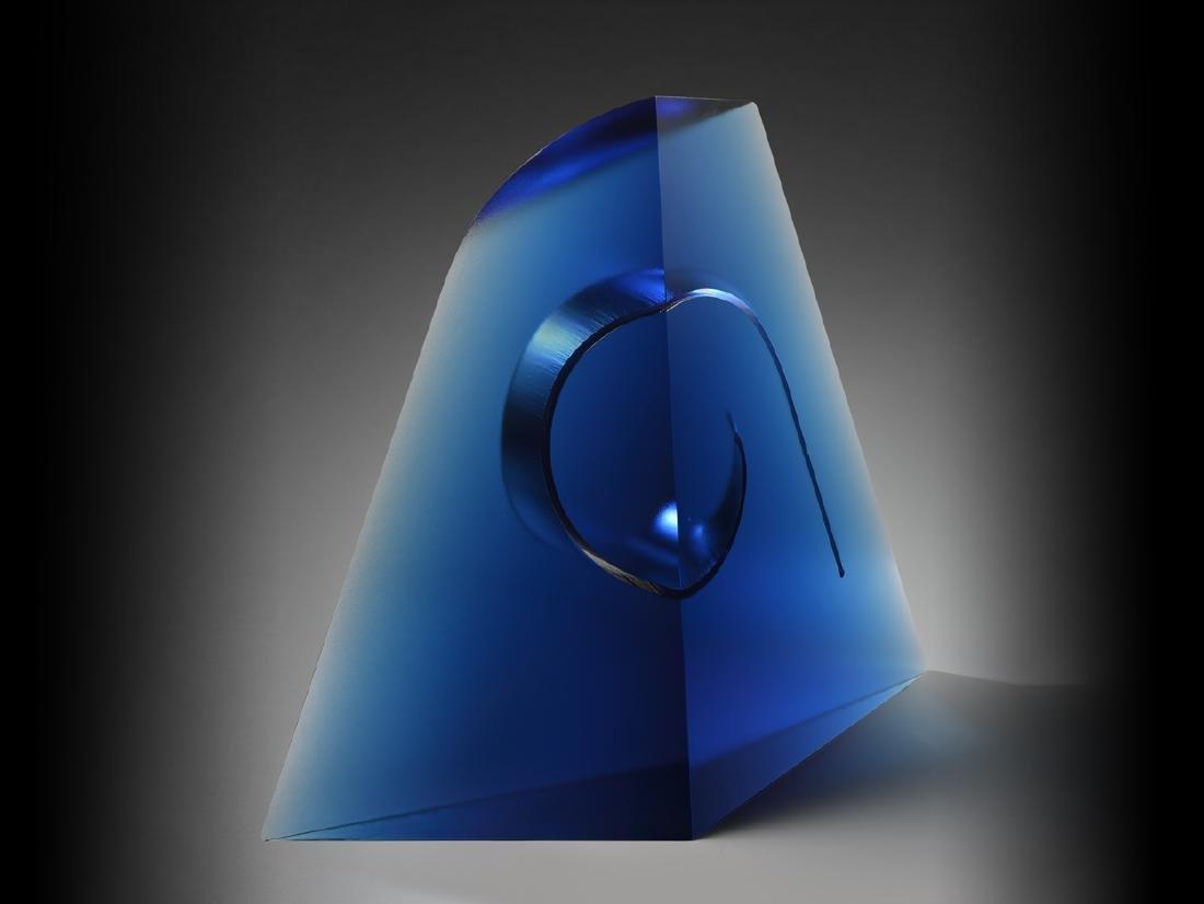 Petr Hora Spirit 2003, Art Glass Habatat Blue Cast