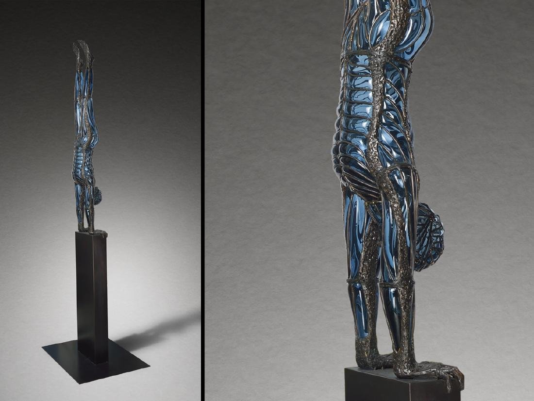 David Bennett Balancing Man 2003 Art Glass Habatat