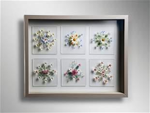 Kari RussellPool Life Flower Study 2008 Art Glass