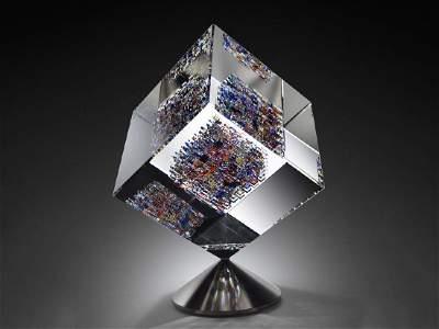 Jon Kuhn Midnight Jewel 2002 Art Glass Habatat Spinning