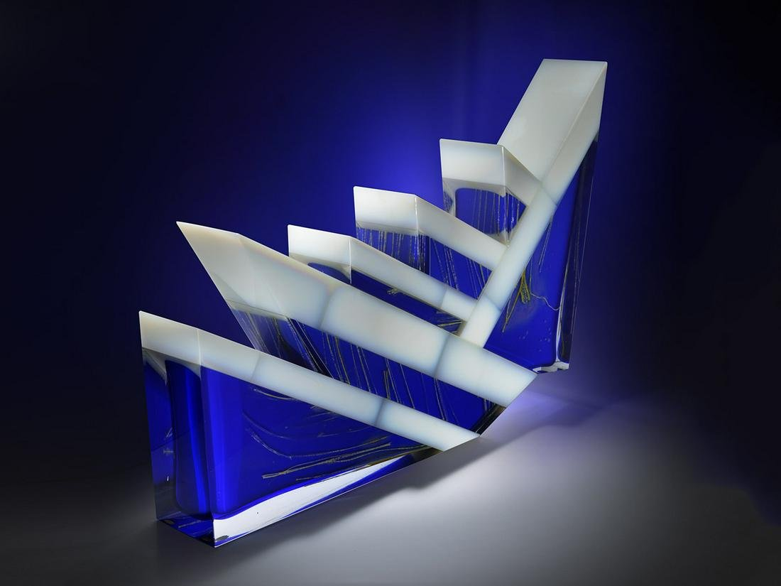 Pavel Hlava Winter 1989 Art Glass Habatat