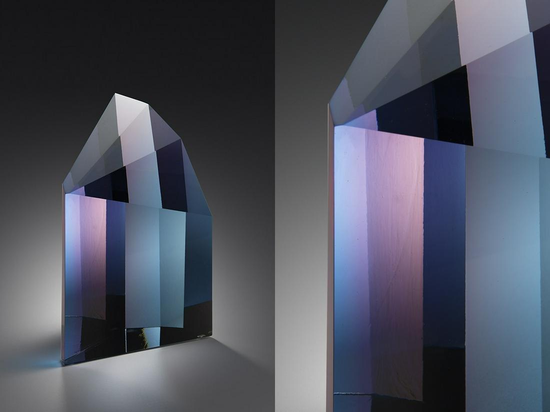 Mark Peiser Prism Series: Lightbeam 1983 Art Glass