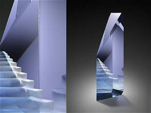 Mark Peiser Agamemnon's Keep ca1990 Art Glass Habatat