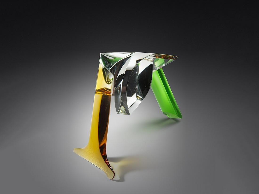 Bretislav Novak Jr. Bird 1997 Art Glass Habatat