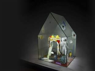 Therman Statom Maison des Cartes 1991 Art Glass Habatat