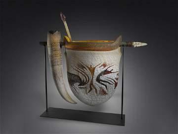 William Morris Suspended Artifact 1997 Art Glass