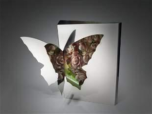Kimiake Higuchi Butterfly ca 2010 Art Glass Habatat