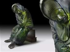Oben Abright Market Figure 2009 Art Glass Habatat