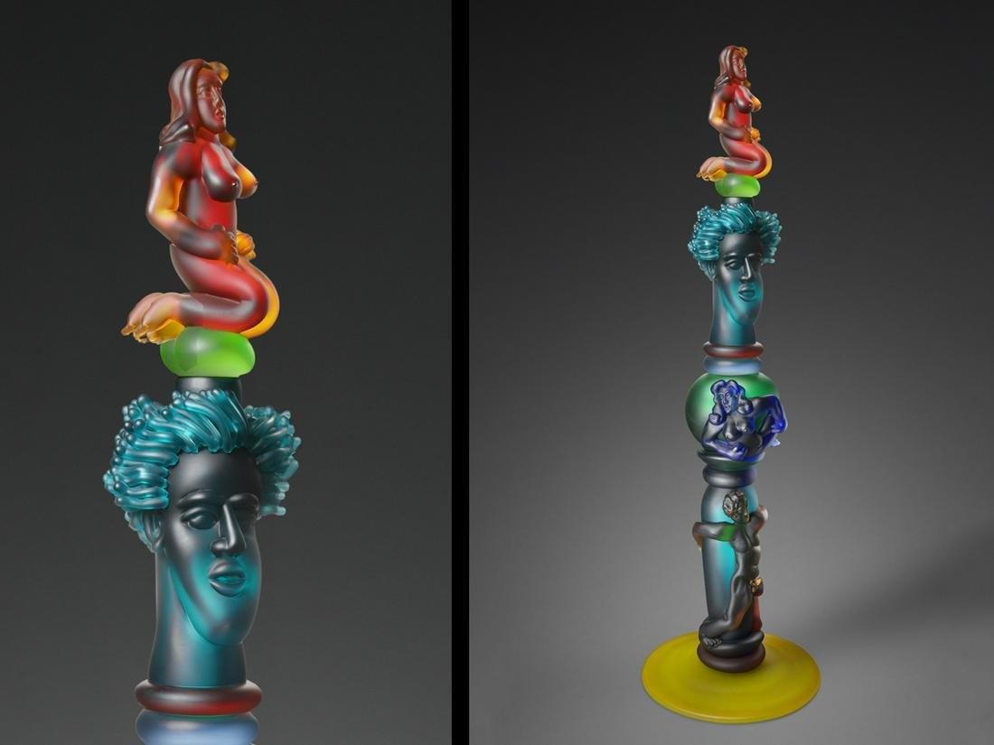 Richard Jolley Totem 1999 Art Glass Habatat
