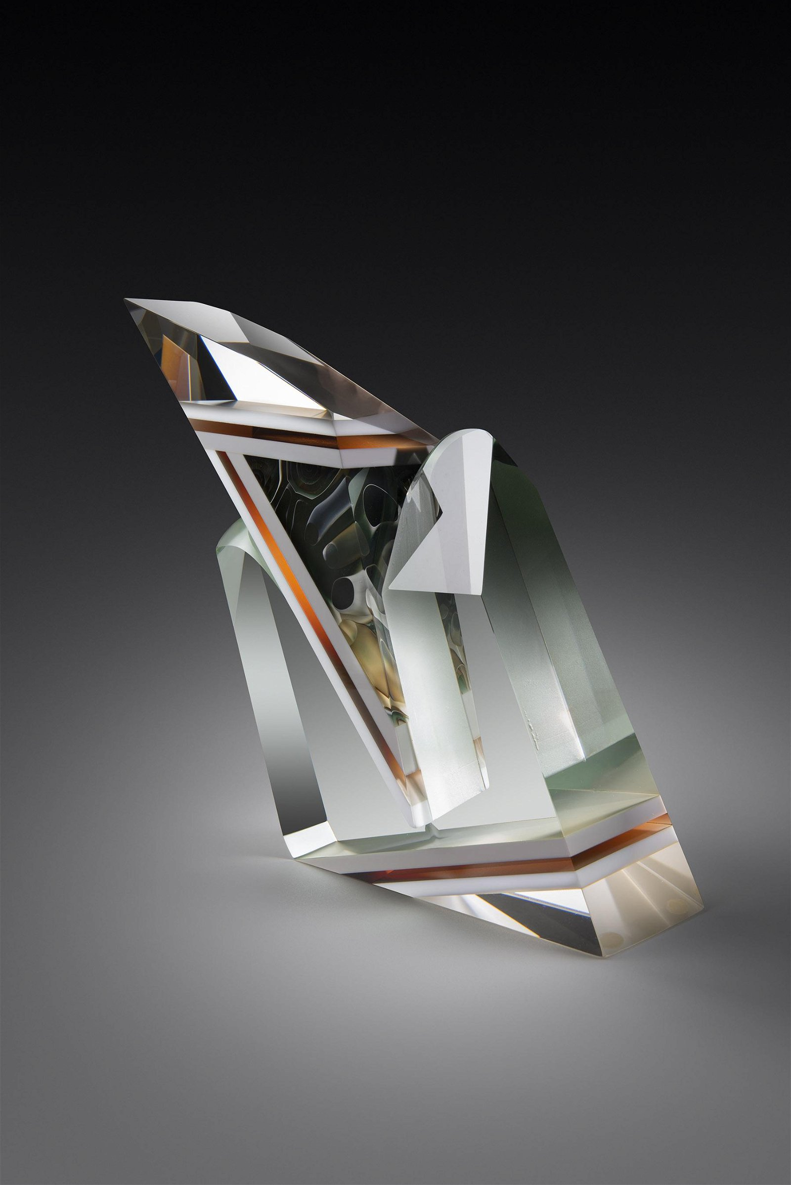 William Carlson Untitled 1981 Art Glass Habatat