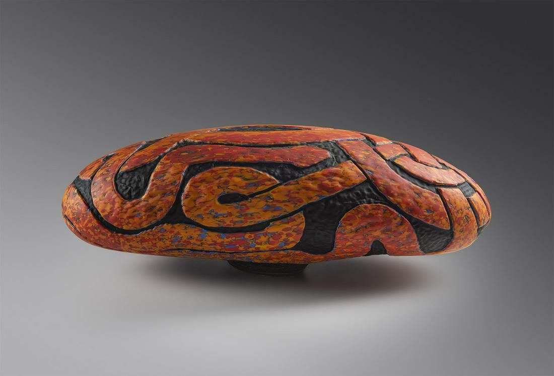 Colin Heaney Red Vessel 2000 Art Glass Habatat