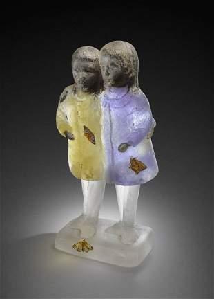 Rick Beck Lotus Large Sculpture Art Glass Habatat