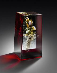 Paul Stankard Bouquet Insect Weight Art Glass Habatat