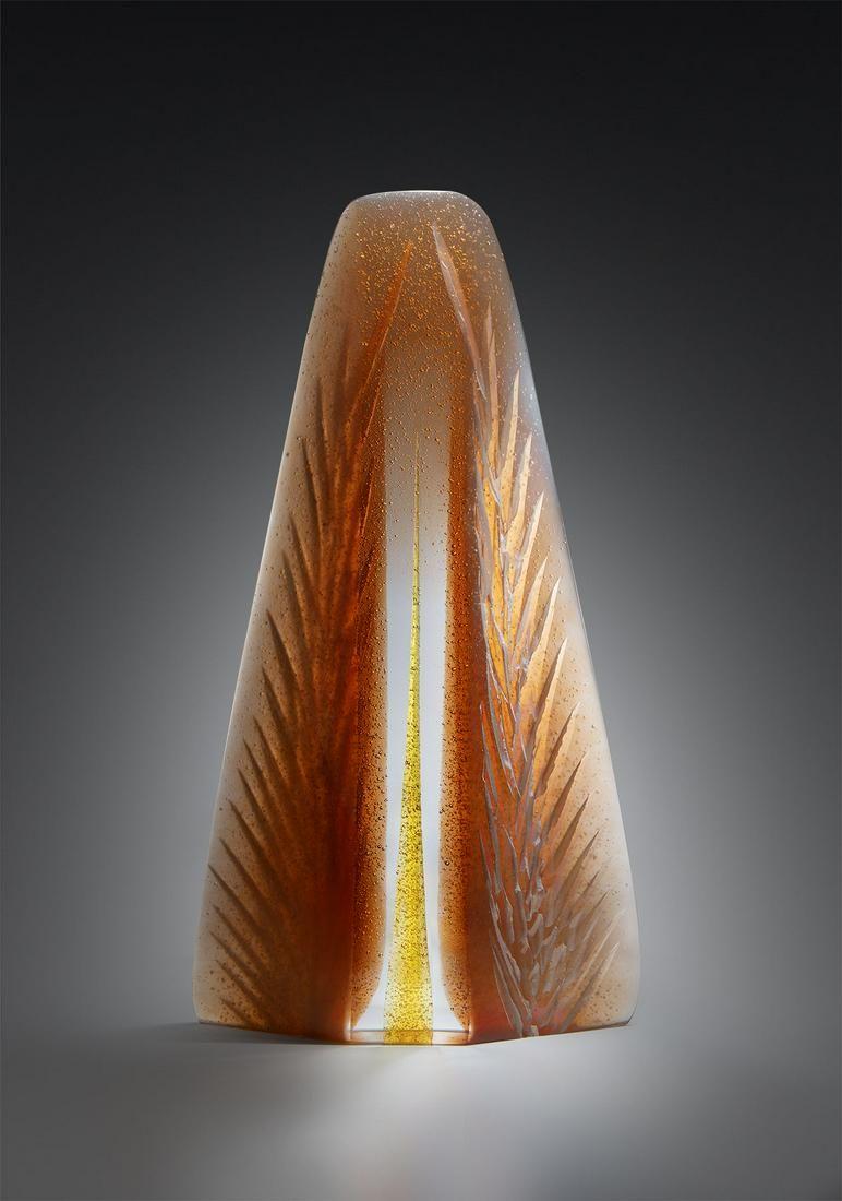 Alex Gabriel Bernstein Amber Spring Art Glass Habatat