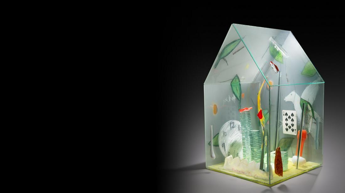 Therman Statom Raven House Art Glass Habatat