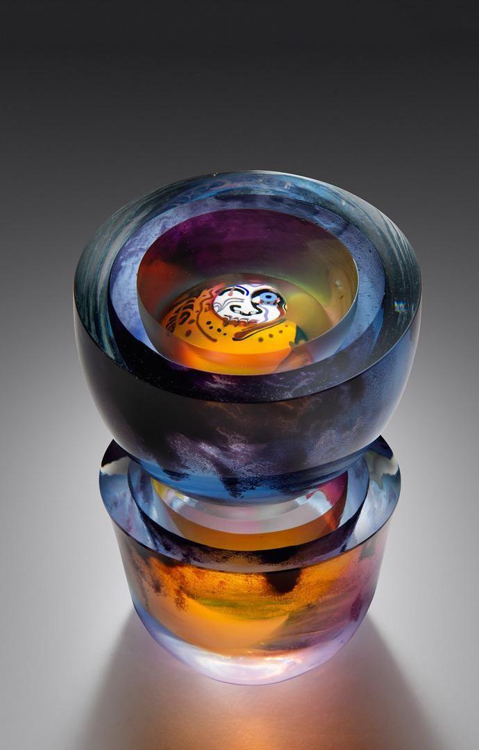Ken Carder Untitled 1983 Art Glass Habatat
