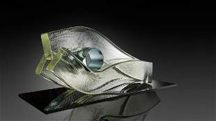 Harvey Littleton Gripped 1979 Art Glass Museum Quality