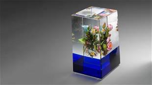 Paul Stankard Earth Spirit Cube Paperweight Habatat