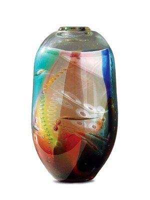 "9: Tom McGlauchlin - ""Vase"" 1979 Glass Art"