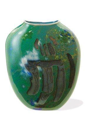 "16: William Morris - ""Green Glass Vase"" 1985 Art"