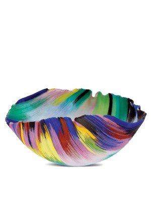 "19: Toots Zynsky ""Untitled Bowl"" circa '91 Glass Art"