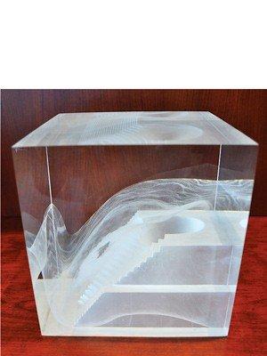 """21: Steven Weinberg """"Cast Glass Sculp #78"""" '88 Glass"""
