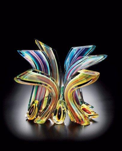 "54: Harvey Littleton - ""Yellow Crown"" 1983 Glass Art"