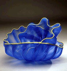 """2: Dale Chihuly """"Larkspur Seaform Pair with Golden Lip"""
